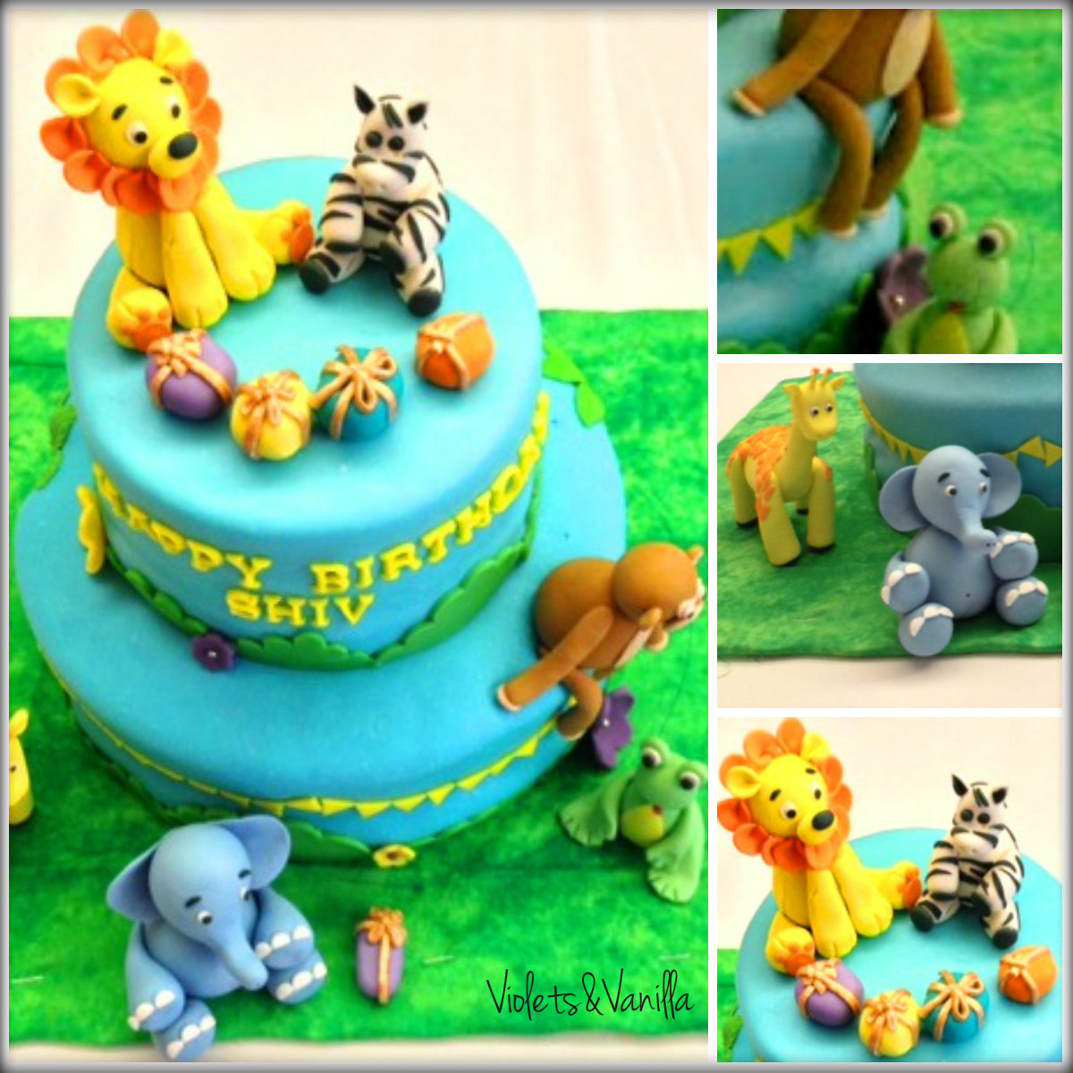 Birthday Cake Jungle Animals