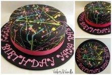 neon paint cake