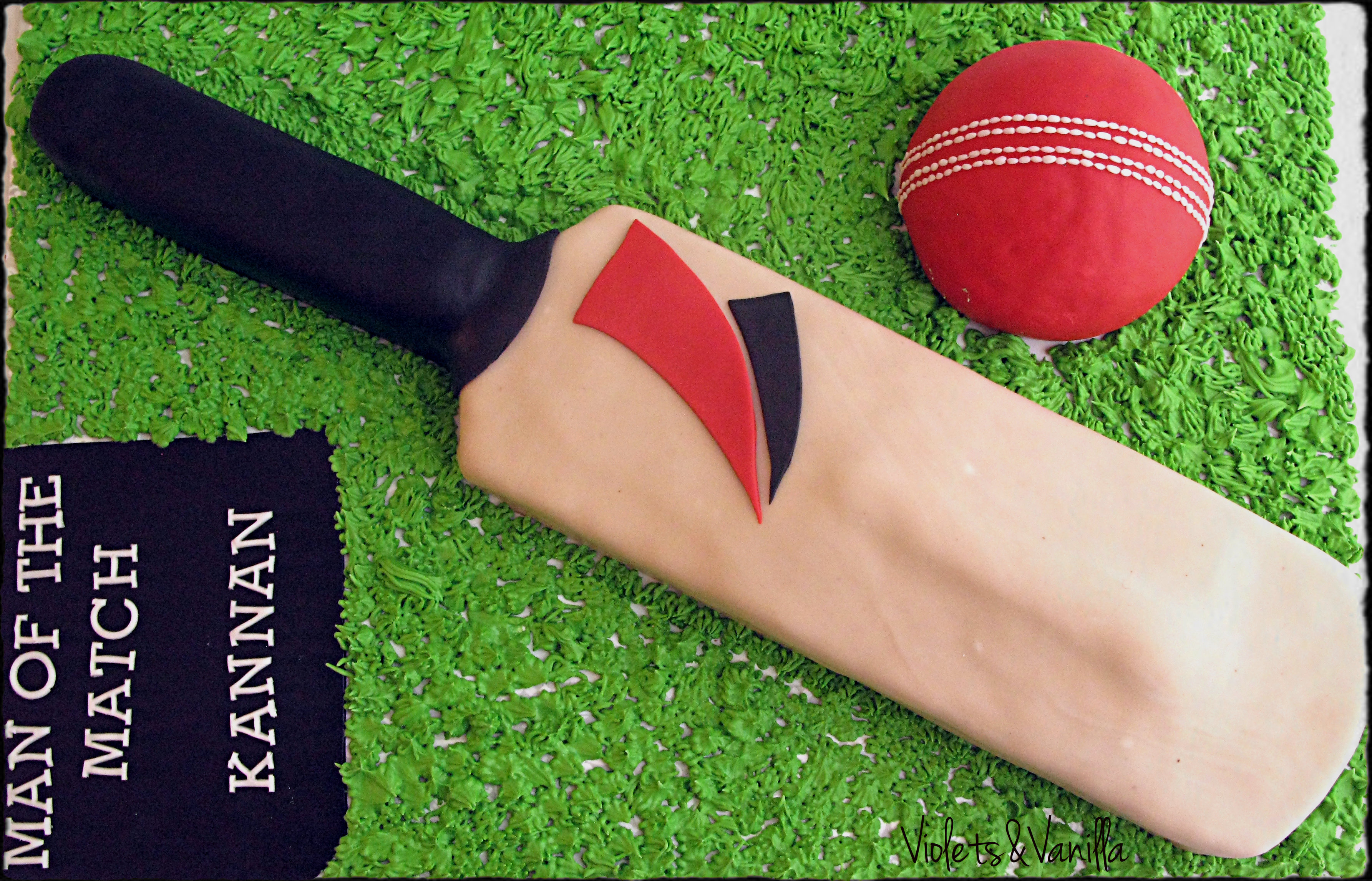 Cricket Bat Cake Images : Ball Violets & Vanilla