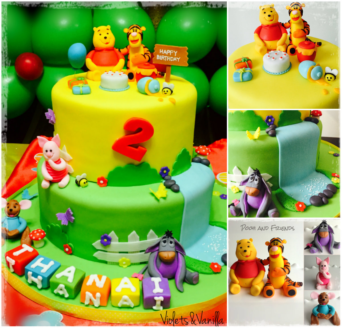 Winnie The Pooh And Friends Cake Violets Amp Vanilla